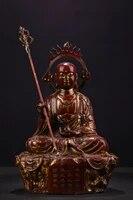 12tibet temple old bronze lacquer cinnabar ksitigarbha amitabha sitting buddha enshrine the buddha