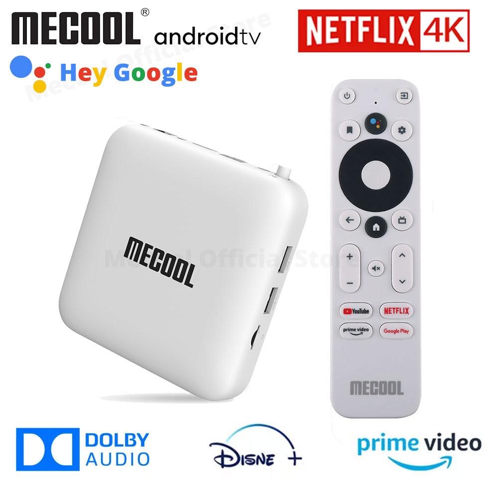Mecool KM2 ل Netflixs 4K تي في بوكس أندرويد Amlogic S905X2 2GB DDR4 USB3.0 إيثرنت واي فاي 11 رئيس الوزراء فيديو HDR 10 Widevine L1 TVBOX