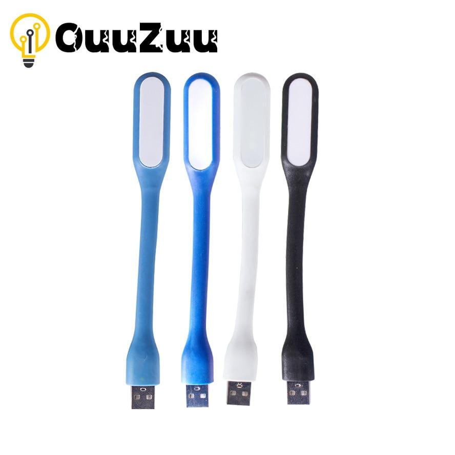 OuuZuu Mini Portable USB Book Light Reading Lamp 5V 1.2W Super Bright LED Lamp for Power Bank PC Laptop Notebook