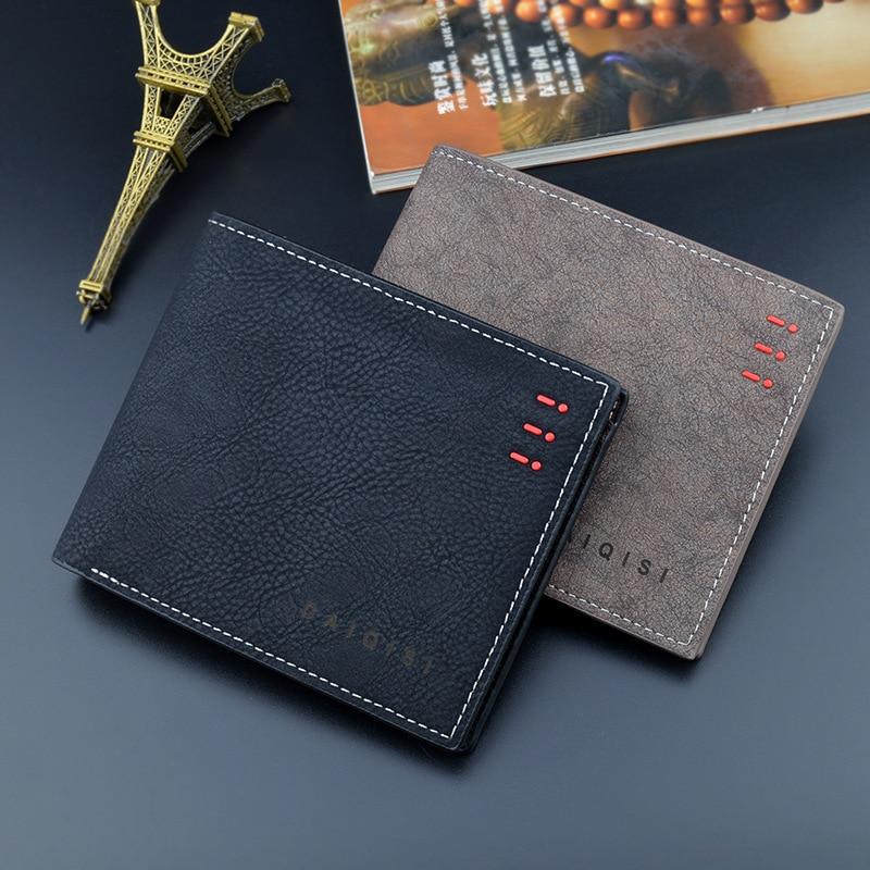 Модный мужской кошелек, винтажные абразивные кожаные кошельки, кошелек для денег, кредитных карт, мужской кошелек, кошелек для монет, кошеле...