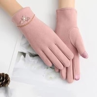 womens gloves autumn and winter windproof warm plus velvet gloves winter snow ski warm gloves riding cycling cute gloves