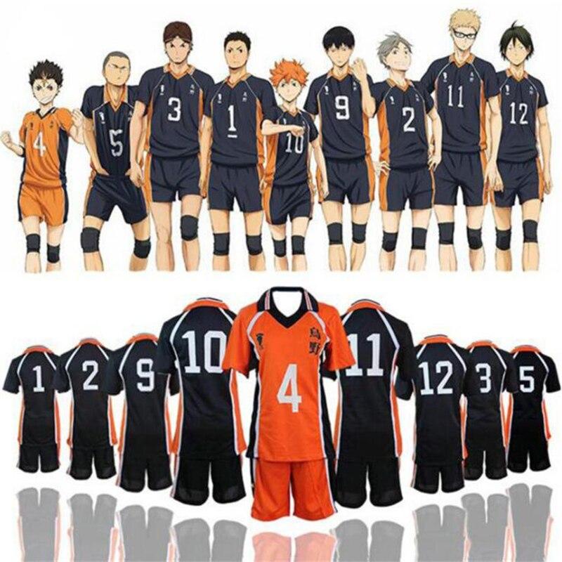 Haikyuu تأثيري تي شيرت Sweatpants زي Karasuno المدرسة الثانوية الكرة الطائرة نادي هيناتا شايوو الملابس الرياضية الفانيلة موحدة