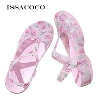 issacoco womens hole jelly sandals shoes casual sandals garden summer womens sandals shoes flat beach sandals shoes pantuflas
