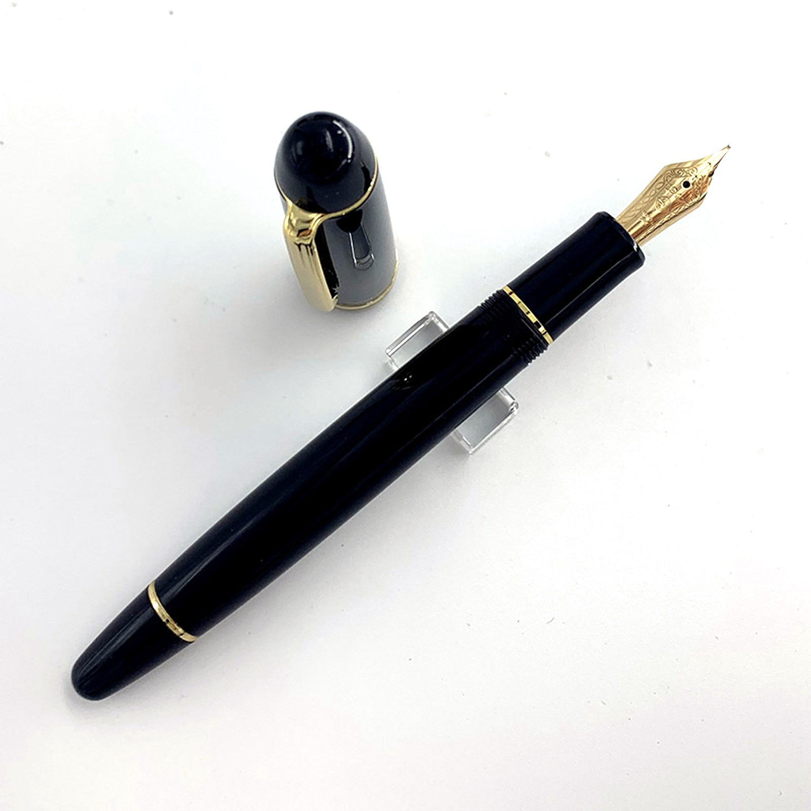 Wing Sung-قلم حبر راتينج 628 ، مع محول EF/F ، لون ذهبي 14 كيلو ، أداة حشو ، مكتب ، مدرسة ، كتابة ، أجنحة