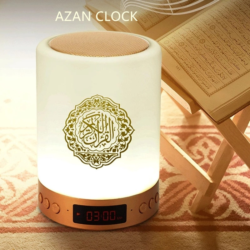 Bluetooth Quran Speaker Personalized Night Light With Athan Clock Muslim Kids Gift Mp3 Koran Player Veilleuse Coranique enlarge