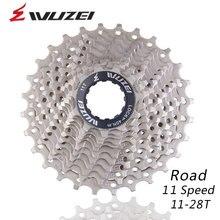 WUZEI 11 S 11-28T roues libres route vélo volant en acier 11 vitesses Cassette pignon 11-28T Compatible pour 150 5800 pièces