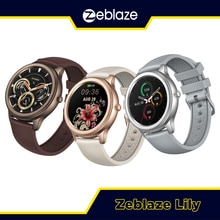 New 2021 Zeblaze Lily Women Smart Watch Aluminum Case IP68 Waterproof Lovely Bracelet Health & Fitne