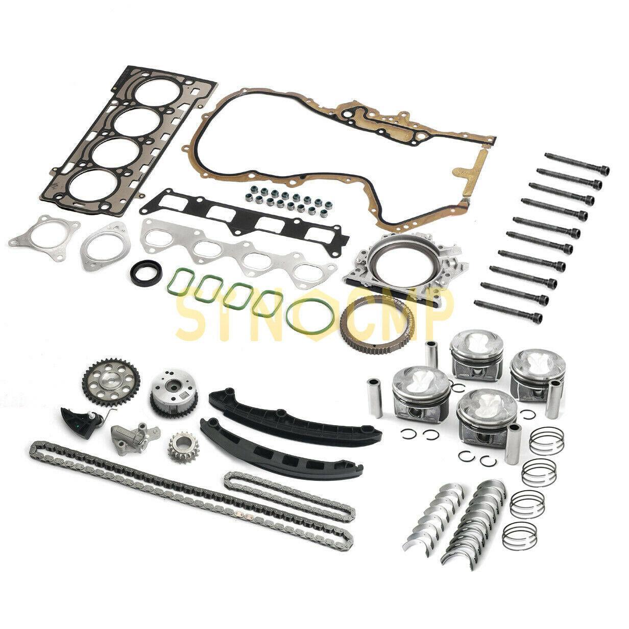 طقم إصلاح وتجديد المحرك لـ VW Golf ، Audi 1.4 TSI Tiguan Jetta CAVD CTHD CNWA CTKA e11mm EA111