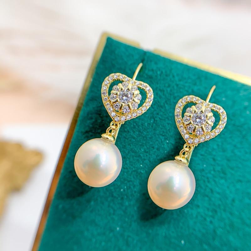 Wholesale New Arrival Shinning Heart Design Earrings Hooks Accessories Women DIY Handmade Jewelry Making