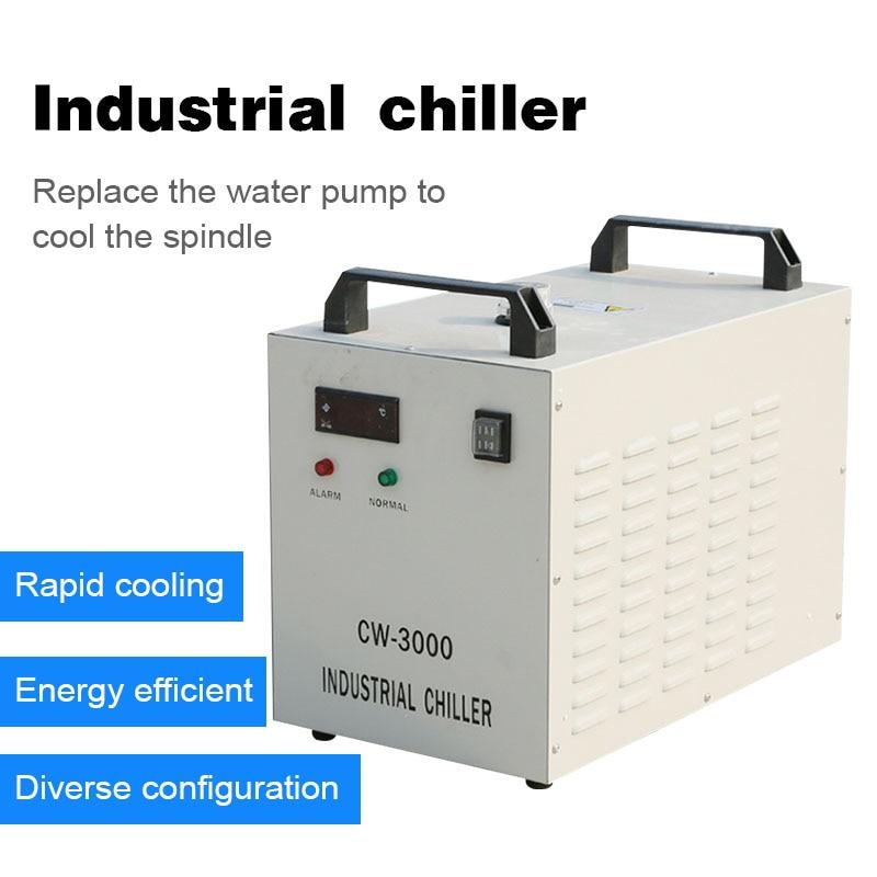 Enfriador de agua Industrial, 50HZ 220/110V cw5200 cw3000, husillo enfriado por agua, enfriadores de agua de refrigeración para Máquina Láser de cnc
