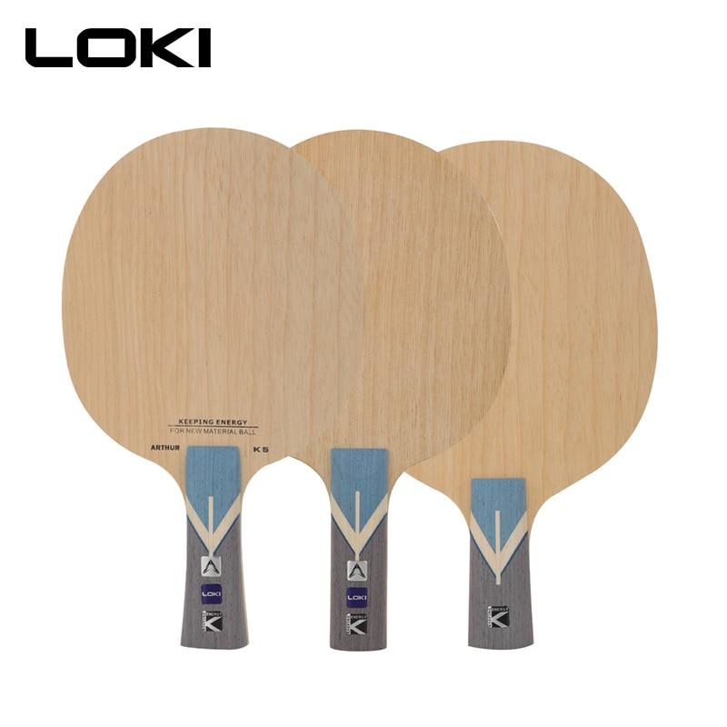 LOKI Arthur K5 ALC, raqueta de tenis de mesa, 7 capas ofensivas, raqueta de Ping Pong de carbono, ataque rápido y arco, raqueta de tenis de mesa