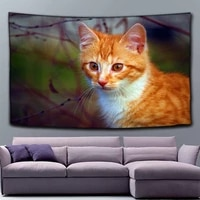 cat tapestry wall hangings home hanging pictures decorative tablecloth background cloth picnic cushion