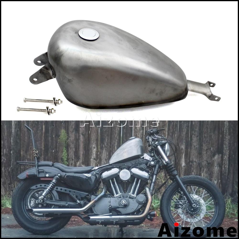 Motorcycle EFI Fuel Tank 2.4 Gal Tank For Harley Sportster XL883 XL1200 SuperLow Iron Custom 72 48 Roadster 2007-2016 2017