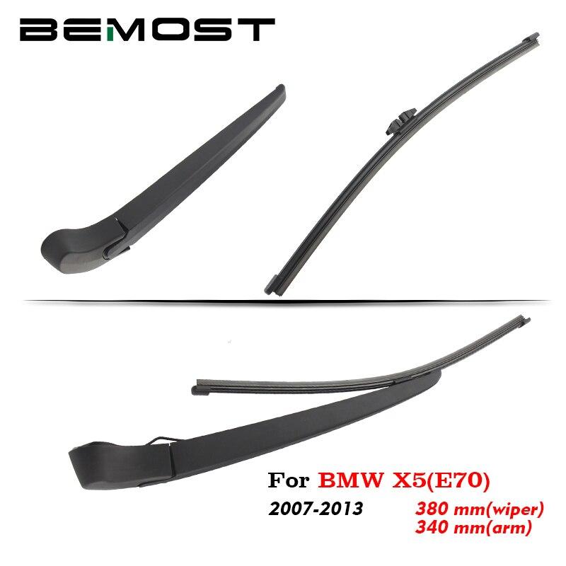 BEMOST de brazo de limpiaparabrisas trasero de coche hojas de goma para BMW X5 (E70) X5 (F15) 2007, 2008, 2009, 2010, 2011, 2012, 2013, 2014, 2015, 2016, 2017, 2018