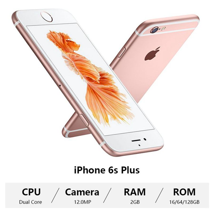 Review Used Apple iPhone 6S Plus Smartphone 5.5″ Dual Core 16/32/64/128GB ROM 2GB RAM 12.0MP 4G LTE IOS Unlocked Iphone6sp Mobile Phone