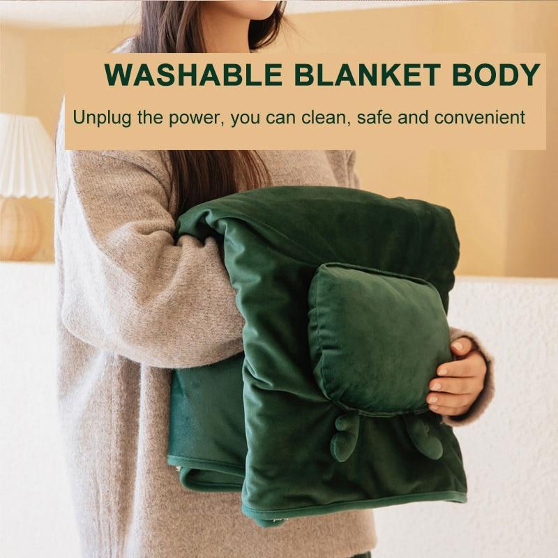 Electric Blanket Warm Heater USB Indoor Heater Blanket Electric Heating Blanket Carpets Washable Knee Warmer Blanket  - buy with discount