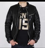 yrfree shipping pakistan tanning sheepskin clothes quality luxury motor biker leather jacketmens fashion genuine leather coat