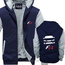 Décontracté nouveau hiver hommes Camiseta Blanca Seat Leon Fr cupra t-shirts veste mâle décontracté hiver épais sweat-shirt à glissière sbz8343