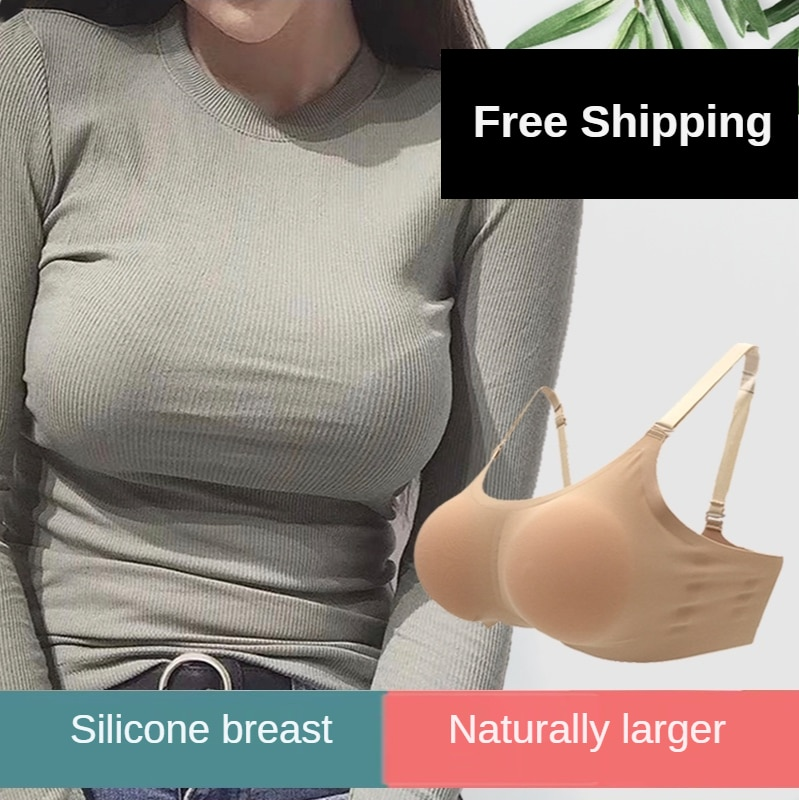 سيليكون الثدي الاصطناعية طبطب الملابس الداخلية مثير وهمية الثدي كبير وسادة للصدر الإناث الاصطناعية كمال الاجسام الملابس الداخلية