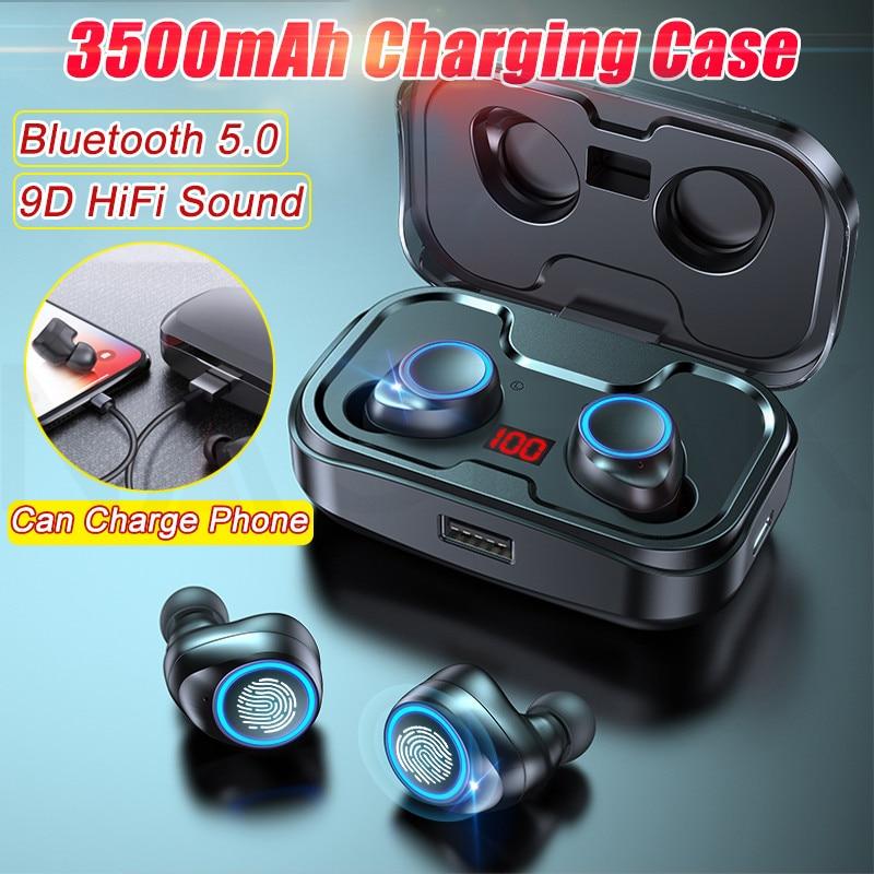TWS Bluetooth 5.0 Earphones 3500mAh Charging Box Wireless Headphone 9D Stereo Sports Waterproof Earbuds Headsets With Microphone enlarge