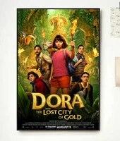 Film classique tendance Dora et la ville perdue dor Movi  magnifique decoration artistique pour la maison  affiche en soie  autocollant mural  cadeau decoratif  NP075