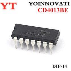 50PCS CD4013BP CD4013 CD4013BE DIP-14 Melhor qualidade