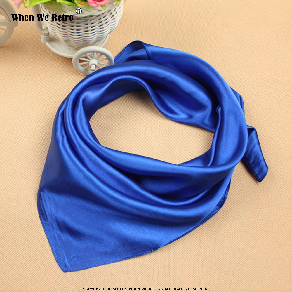 When We Retro Fashion Scarf Women Scarves Soft Smooth Thin Scarf for women Vintage 60cm*60cm White Small Square QY0563