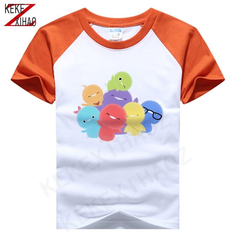 Boys' Clothes Summer Short Sleeve Top Lovely Girl T-shirt Children's Leisure Sports T-shirt Cute Beautiful Print T-shirt