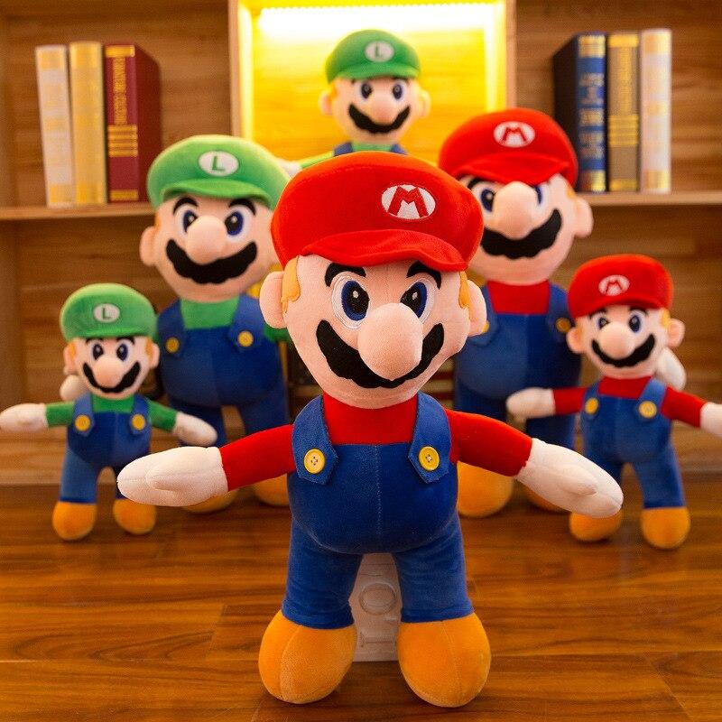 Super Mario Bros muñeco de peluche suave Yoshi melocotón princesa Luigi Shy Guy Odyssey Donkey Kong cojín almohada apaciguar niños regalo