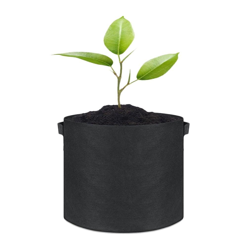 Paquete de 10 bolsas de cultivo de tejido transpirable macetas maceta raíz bolsa contenedor planta ollas inteligentes con asas suministros de jardín