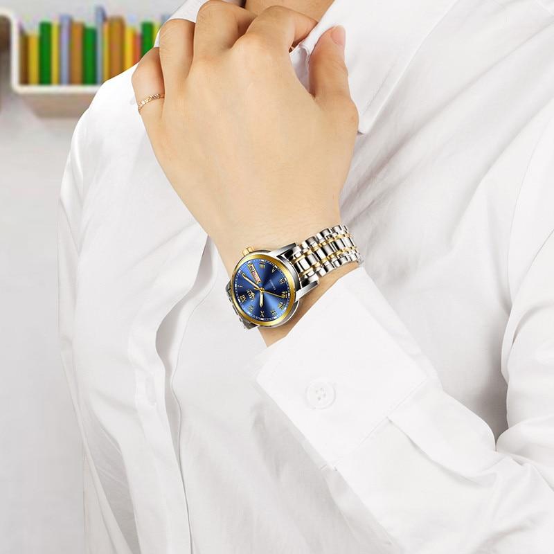 Fashion Women Watches Ladies Top Brand Luxury Stainless Steel Waterproof Quartz Watch Women Bracelet Watch Gift For Women enlarge