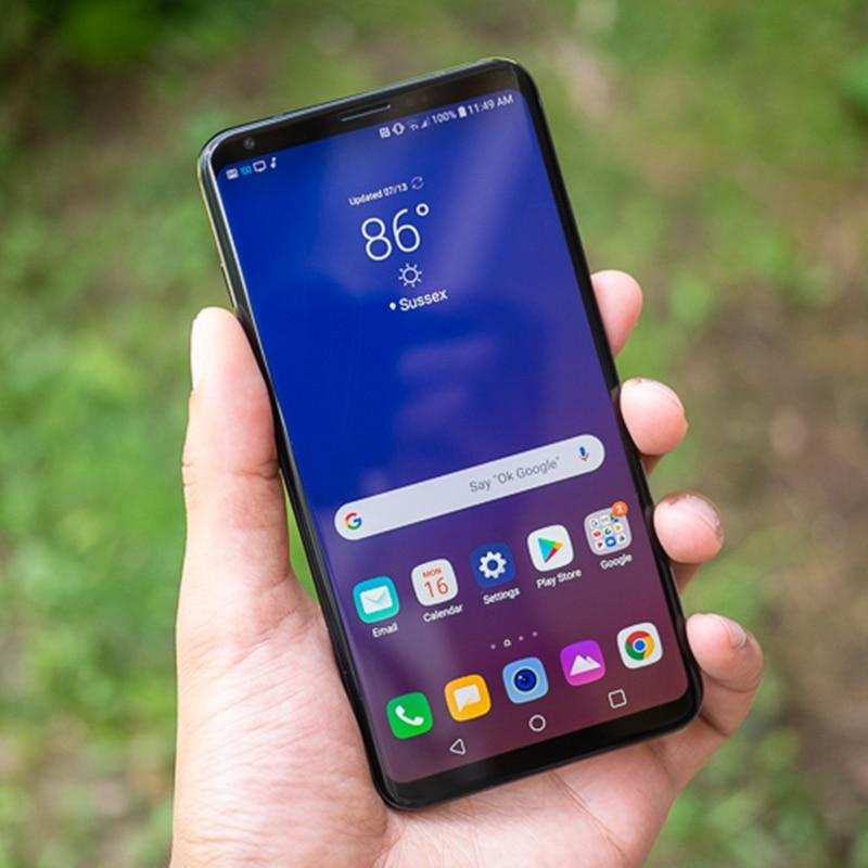 Фото5 - Смартфон LG V35 ThinQ V350N V350AWM, разблокированный, мобильный телефон, экран 6,0 дюйма, 6 ГБ ОЗУ 64 Гб ПЗУ, Восьмиядерный 16 Мп, сканер отпечатков пальцев, ...