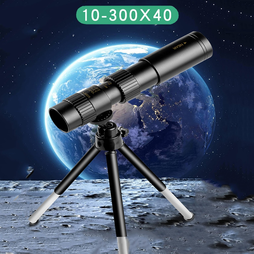 4k 10-300x40mm Super Telephoto Zoom Monocular Telescope With Tripod & Clip Mobile Phone Accessories