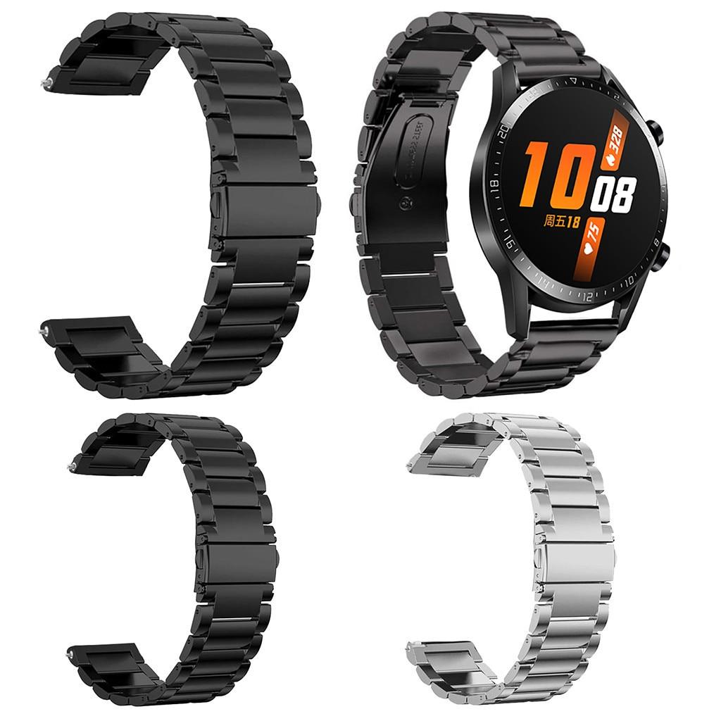 Correa de reloj de liberación rápida de acero inoxidable, correa de repuesto para Huawei Watch GT2 46mm, correa de reloj, correa de muñeca, 19Nov08