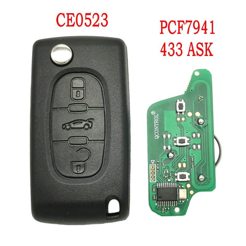 car key remote flip key shell case for peugeot 308 207 307 3008 5008 807 2 buttons auto key case for citroen c2 c3 c4 c5 c6 c8 Datong World Car Remote Key For Peugeot 407 408 307 308 607 Citroen C2 C3 C4 C5 ID46 PCF7941 Chip 433 ASK Auto Smart Replece Key