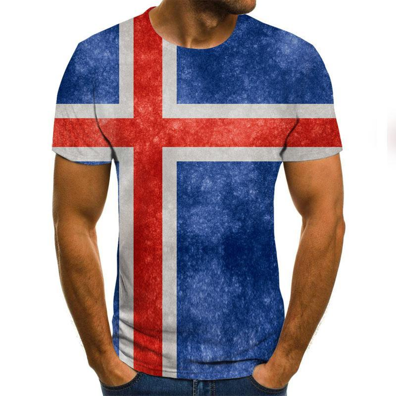 2020 Summer Newest National Flags 3d Printed T Shirt Men Joker Face Casual Male Tshirt Short Sleeve Funny T Shirts Tops Tee