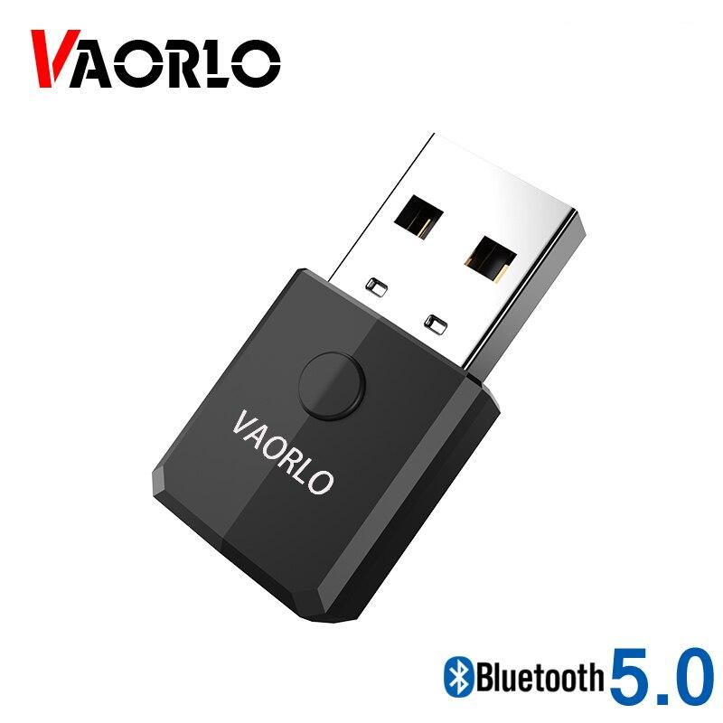 Receptor transmisor USB VAORLO Bluetooth 5,0 adaptador inalámbrico de transmisión de Audio para auriculares estéreo para TV música con AUX de 3,5mm