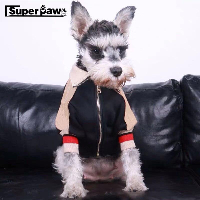 Moda perro chaqueta para gato mascota invierno cálido béisbol ropa abrigo para perros pequeños medianos Schnauzer Bulldog Hoodie Dropshipping ZJC16