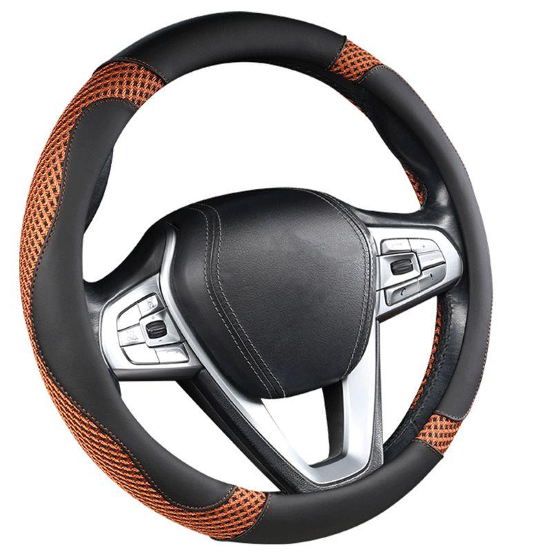 Protector para volante de coche antideslizante transpirable absorción de sudor piezas de automóvil 270E