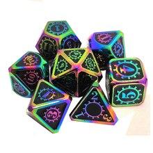 Vele Metalen Dobbelstenen Dnd Dobbelstenen Set Voor Dungeons And Dragons (D & D) pathfinder Role Playing Games Polyhedral & Rpg 7 Keer