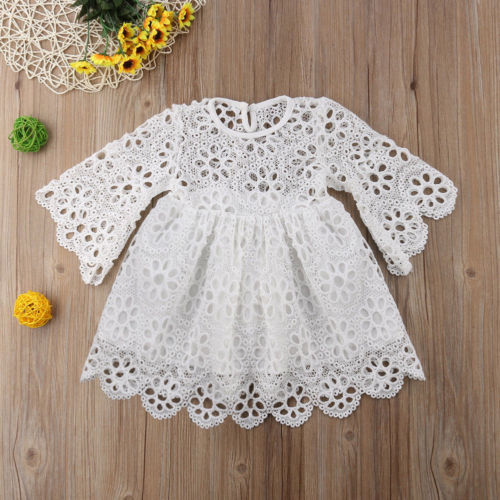 Family Matching Clothes Mother Daughter Dresses Women Floral Lace Dress Baby Girl Mini Dress Mom Baby Girl Party Clothes 6