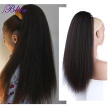 Blice-extensiones de cola de caballo de pelo sintético, 18-24 pulgadas, rizado, liso, resistente al calor, con dos peines de plástico, todos los colores disponibles