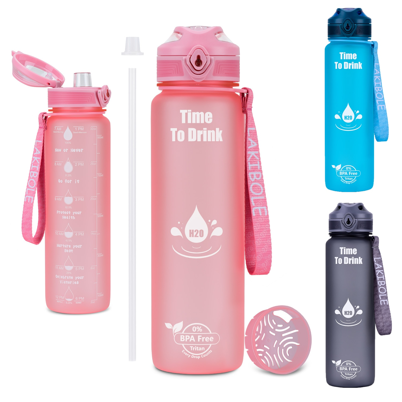 New Hot Fashion Sports Water Bottle 1000ml Water Cup Shaker Leakproof Outdoor Sport Mug Tritan Plast