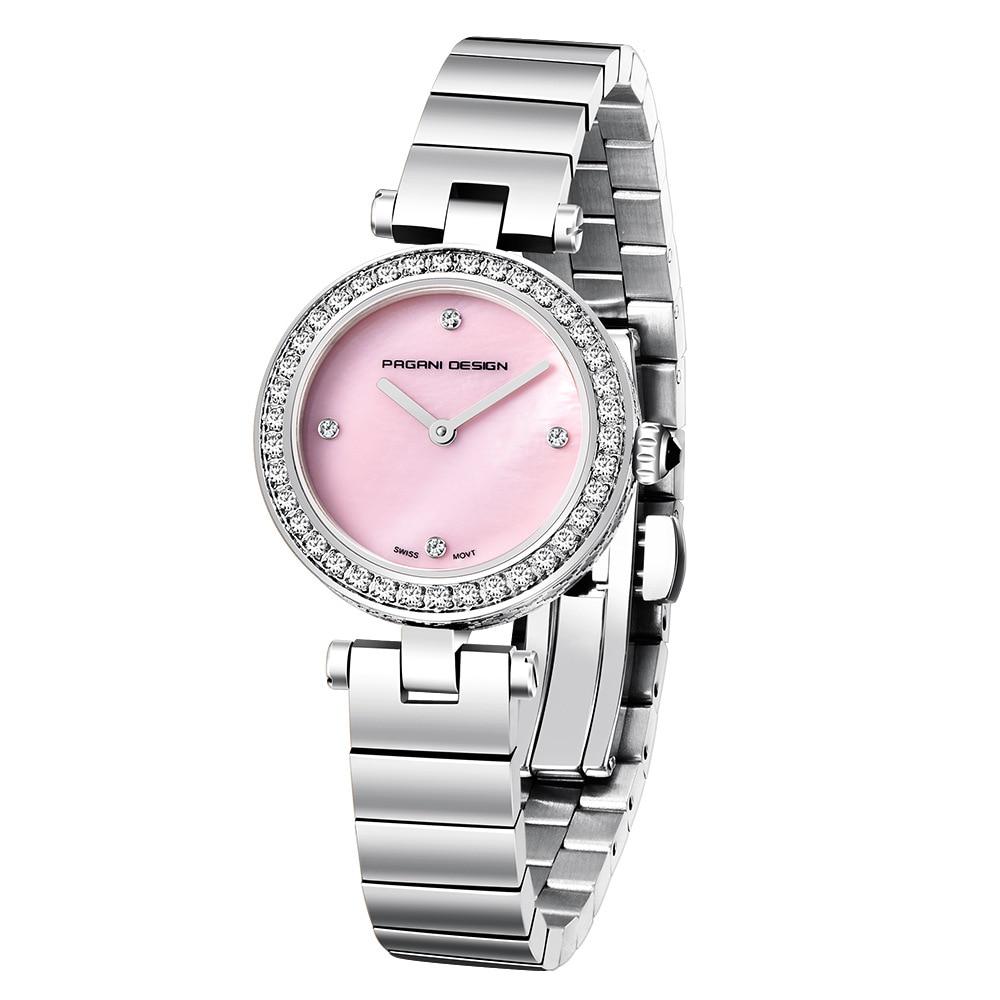 New In Women Quartz Waterproof Round Crystal Stone Watch Stainless Steel Fashion Watches enlarge