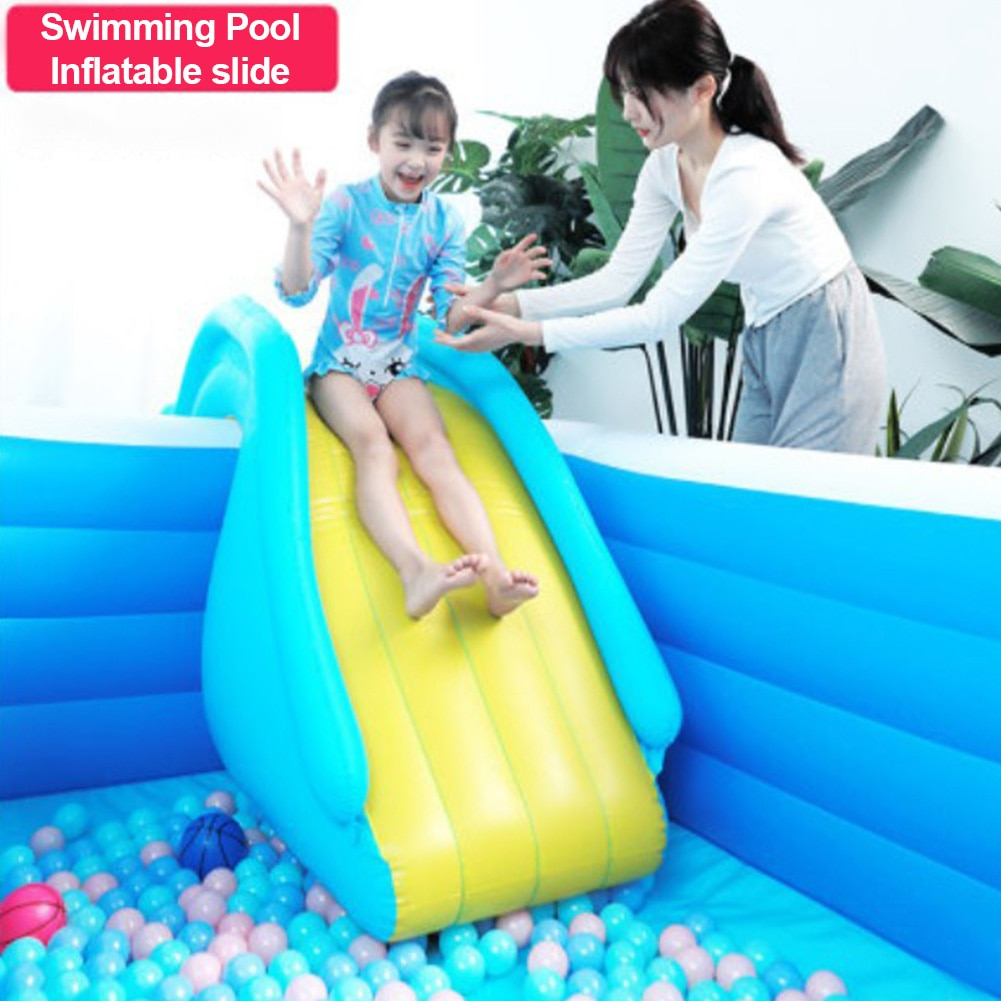 Hot Inflatable Waterslide Wider Steps Swimming Pool Supplies Gun Slide Bouncer Castle Waterslides Summer Water Games Center Toy недорого