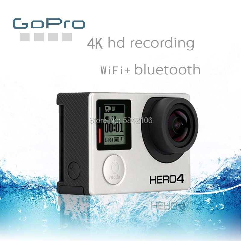 GoPro HD بطل 4 الفضة عمل كاميرا الفيديو GOPRO بطل 4 مقاوم للماء كاميرا رياضية فائقة واضحة 4K