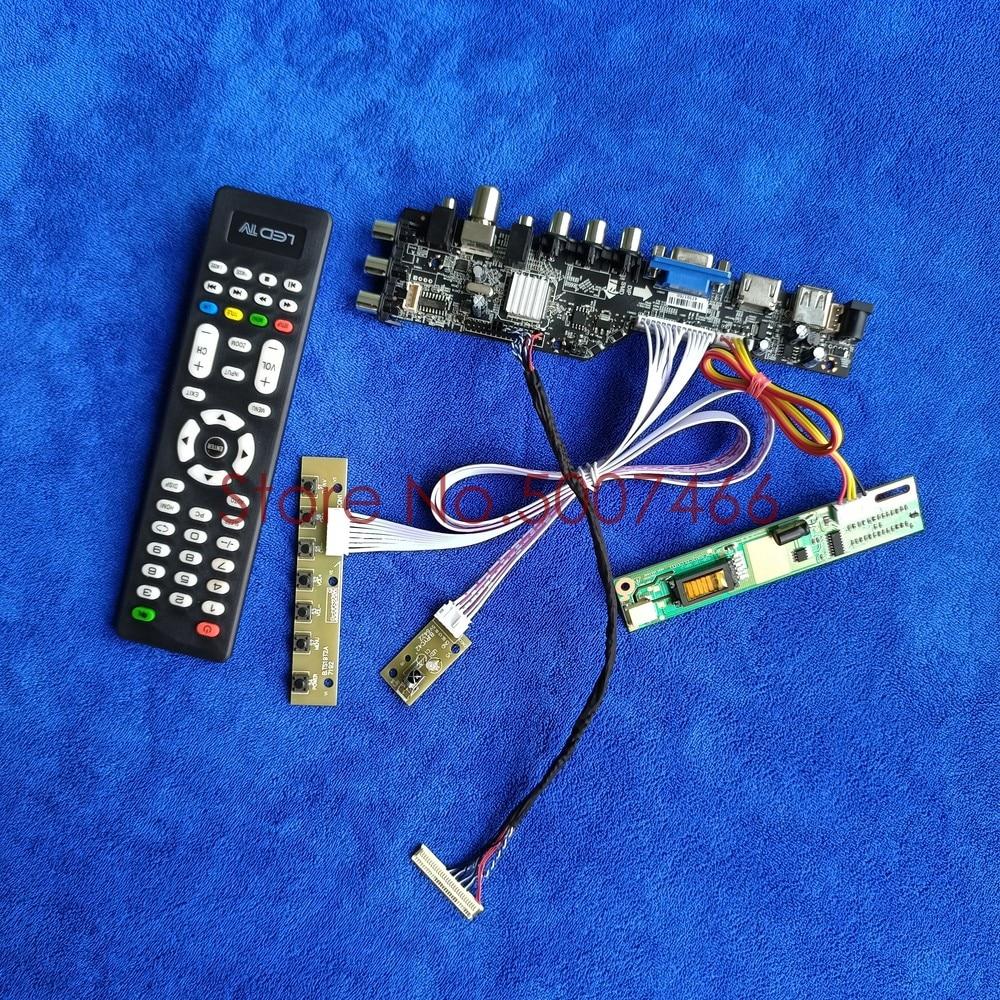 عدة لوحة تحكم شاملة رقمية DVB LCD لمصفوفة 30Pin LVDS 1280*800 1CCFL USB VGA AV إشارة متوافقة مع LTN154AT09/LTN154AT10