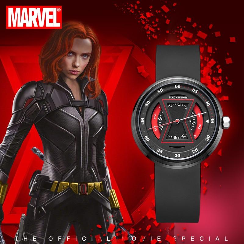Authentic Disney Marvel Black Widow Watch Female Student Personality Waterproof Mechanical Black Technology Ladies Watch