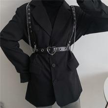 Korean Ins Function Cool Earth Style Chain Strap Belt Integrated Female Hip-Hop Street Punk JK Decor