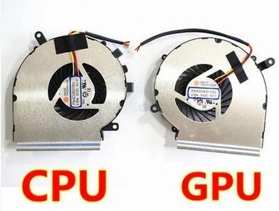 SSEA CPU GPU Cooling Cooler Fan For MSI GE72 GE62 PE60 PE70 GL62 GL72 ms-16j3 GE62VR GP62MVR MS-16J8 MS-16JB Cooler PAAD06015SL